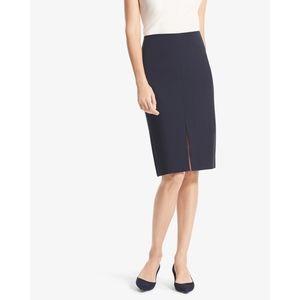 MM LaFleur Greenpoint Front Slit Navy Blue Skirt